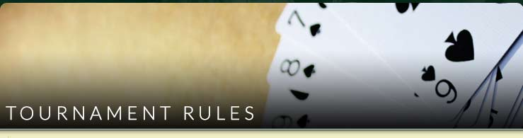 Tournament Rules at Ebro Poker Room